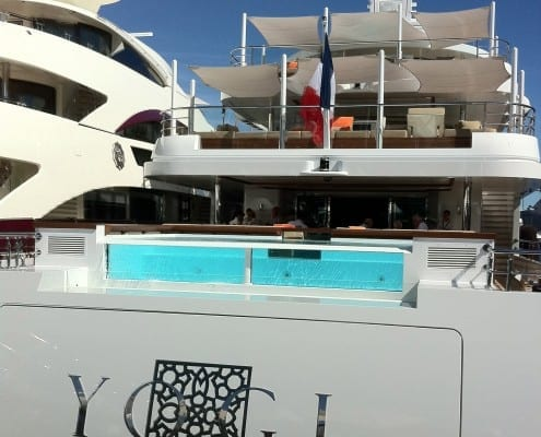 Swimming pool on yacht