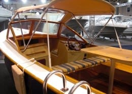 Wooden Day Cruiser at London Boat Show