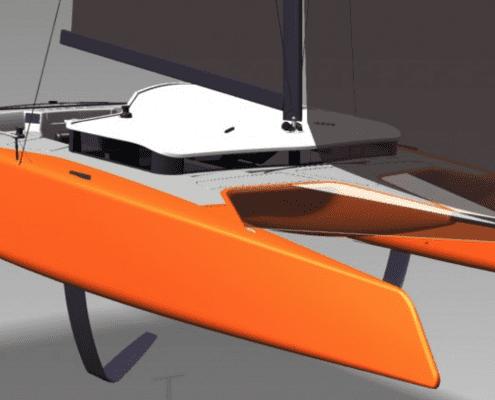 Sailing hydrofoil Gunboat g4