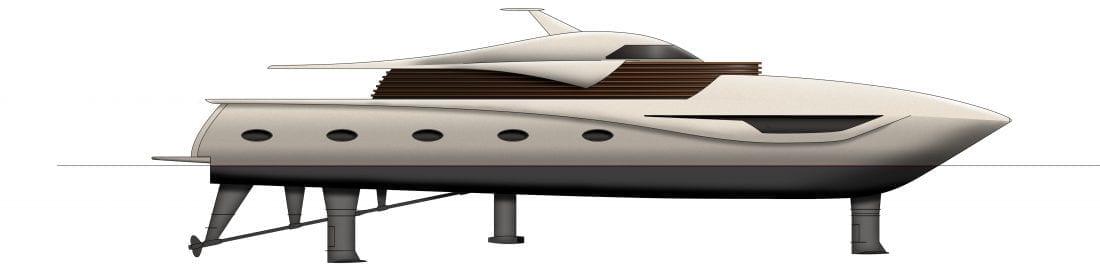 Hydrofoil Yacht Concept
