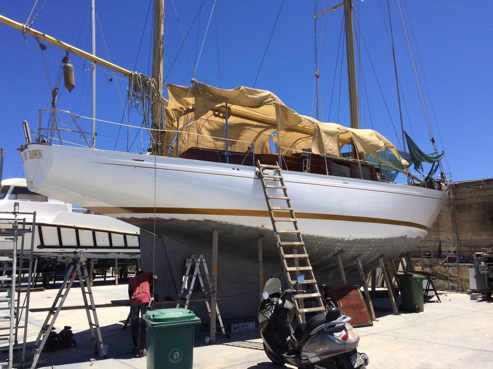Classic Sailing yacht under £100k -Current Status of the vessel end of 2017