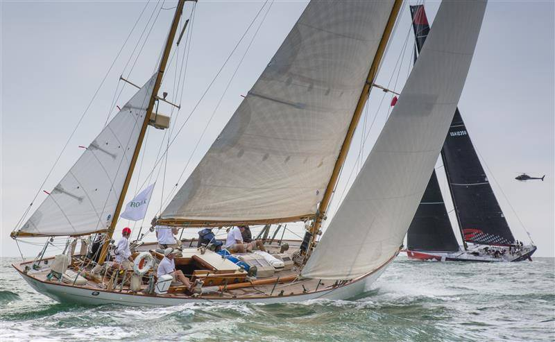 Classic Sailing yacht under £100k - Sail Yacht Sail of Dawn during a regatta - Rolex Cup