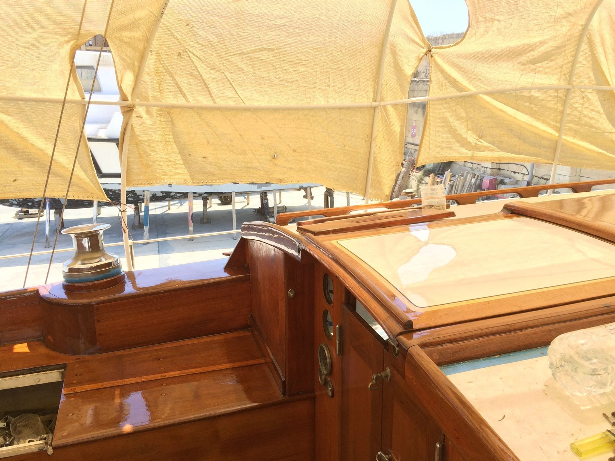 Sails of Dawn - Current Status of the Cockpit during refitting work.