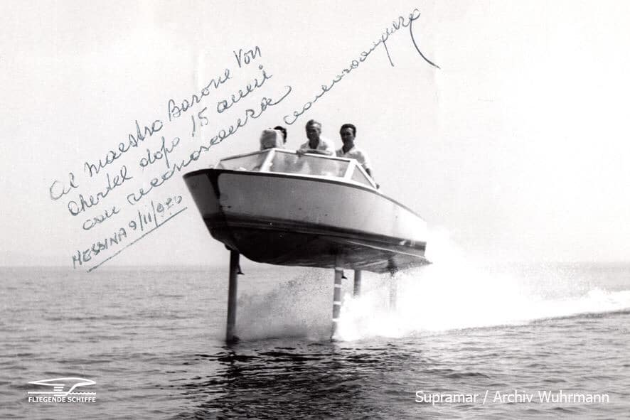 1950s Hydrofoil with Carlo Rodriquez