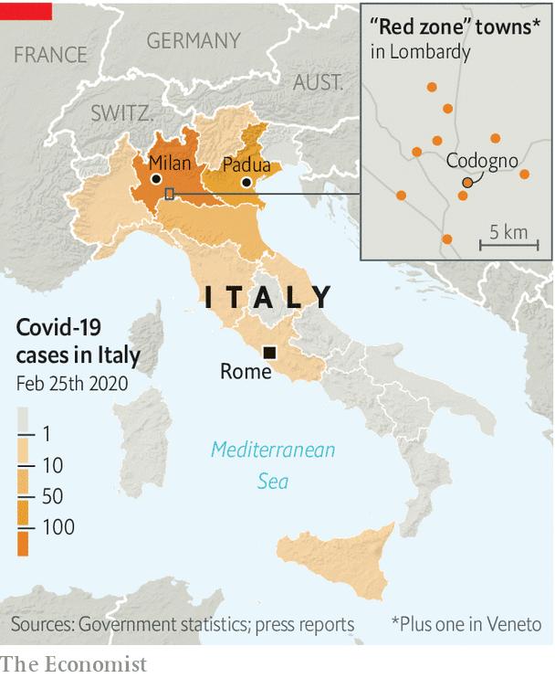 Italy COVID-19 map
